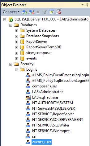 creating_events_database_loginuser_complete
